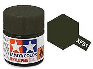 Tinta Tamiya para plastimodelismo - Acrílica mini XF-51 Caqui fosco - 10 ml - NOVIDADE!