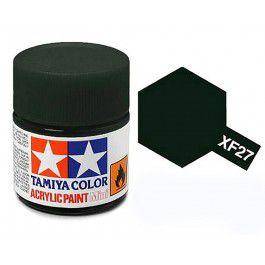 Tinta Tamiya para plastimodelismo - Acrílica mini XF-27 Preto esverdeado - 10 ml - NOVIDADE!