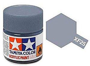 Tinta Tamiya para plastimodelismo - Acrílica mini XF-25 Cinza mar claro - 10 ml - NOVIDADE!