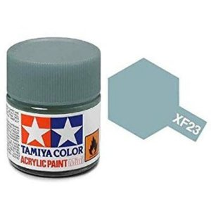 Tinta Tamiya para plastimodelismo - Acrílica mini XF-23 Azul claro - 10 ml - NOVIDADE!