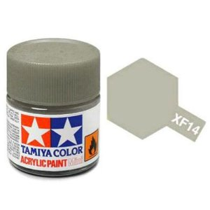 Tinta Tamiya para plastimodelismo - Acrílica mini XF-14 Cinza claro (J.A. Gray) - 10 ml