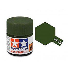 Tinta Tamiya para plastimodelismo - Acrílica mini XF-13 J.A. Verde - 10 ml - NOVIDADE!
