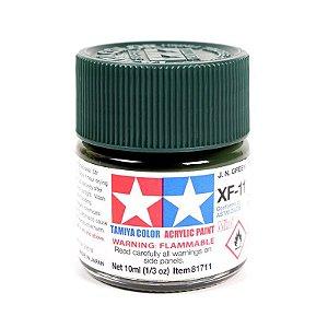 Tinta Tamiya para plastimodelismo - Acrílica mini XF-11 Verde escuro (J.N. Green) - 10 ml
