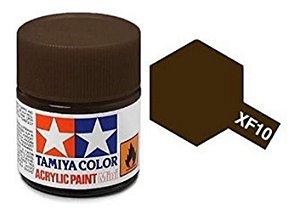 Tinta Tamiya para plastimodelismo - Acrílica mini XF-10 Marrom - 10 ml - NOVIDADE!