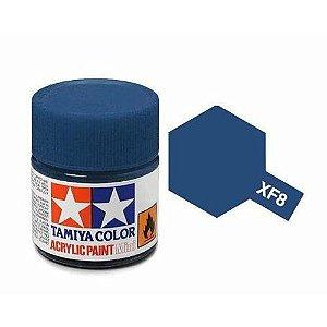 Tinta Tamiya para plastimodelismo - Acrílica mini XF-8 Azul - 10 ml