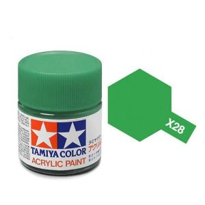 Tinta Tamiya para plastimodelismo - Acrílica mini X-28 Verde parque - 10 ml - NOVIDADE!