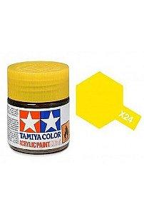 Tinta Tamiya para plastimodelismo - Acrílica mini X-24 Amarelo claro - 10 ml - NOVIDADE!