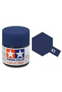 Tinta Tamiya para plastimodelismo - Acrílica mini X-3 Azul Royal - 10ml
