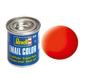 Tinta Revell para plastimodelismo - Esmalte sintético - Laranja luminoso fosco - 14 ml