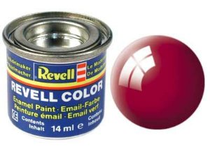 Tinta Revell para plastimodelismo - Esmalte sintético - Vermelho Ferrari - 14ml