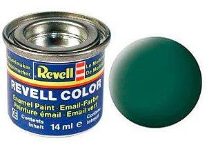 Tinta Revell para plastimodelismo - Esmalte sintético - Verde escuro fosco - 14ml