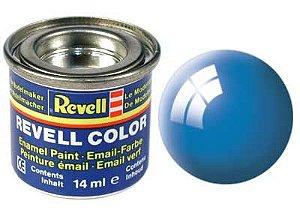 Tinta Revell para plastimodelismo - Esmalte sintético - Azul claro brilhante - 14ml