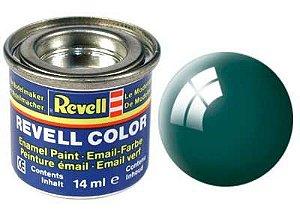 Tinta Revell para plastimodelismo - Esmalte sintético - Verde mar brilhante - 14ml