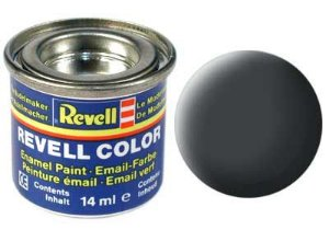 Tinta Revell para plastimodelismo - Esmalte sintético - Cinza fosco - 14ml