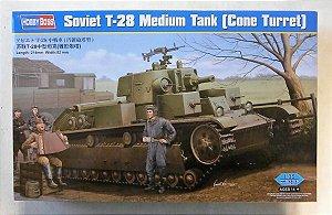 HOBBY BOSS - Soviet T-28 Medium Tank (Cone Turret) - 1/35 - NOVIDADE!