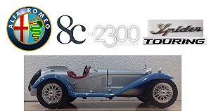 Burago - Alfa Romeo 8C 2300 Spider Touring - 1/18