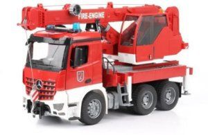 Bruder - Caminhão-Guindaste de Bombeiros Mercedes-Benz Arocs - 1/16