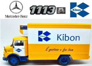 Ixo - Caminhão Mercedes-Benz 1113A 1968 - Sorvetes Kibon - 1/43