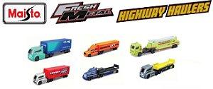 Maisto - Coleção de Caminhões Fresh Metal Highway Haulers - 1/64