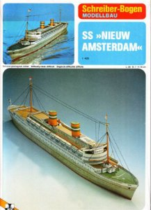 Schreiber-Bogen - SS Nieuw Amsterdam - 1/400