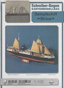 Schreiber-Bogen - Dampfschiff Sirius - 1/100