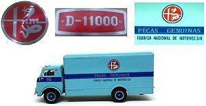 Ixo - Caminhão FNM D-11000 - Peças Genuínas FNM - 1/43