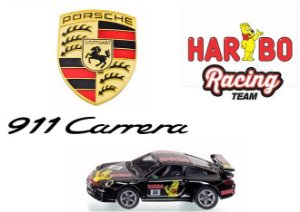 Siku - Porsche 911 Carrera Haribo Racing Team - 1/55