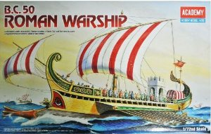 Academy - B.C. 50 Roman Warship (Galera Romana) - 1/72