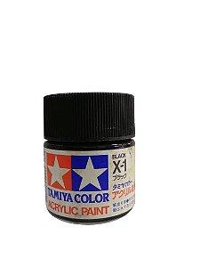TAMIYA - ACRYLIC X-1 - BLACK (GLOSS)