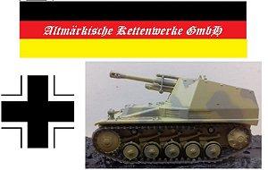 """Coleção Blindados de Combate Planeta deAgostini - Sd. Kfz. 254 """"Wespe"""" SS-Pz.Gren.Div. """"Wiking"""" Kharkov (USSR) 1943 - 1/72"""