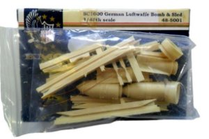KMC - GERMAN LUFTWAFFE BOMB & SLED WWII - 1/48