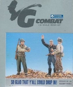 GUNZE - SO GLAD THAT YOU´LL COULD DROP IN! (Set C/ 3 FIGURAS) - 1/35