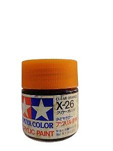 ACRYLIC X-26 - CLEAR ORANGE (GLOSS) - VERNIZ LARANJA BRILHANTE