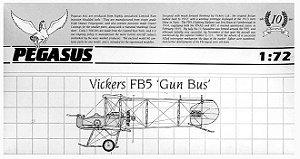 PEGAUSUS - VICKERS FB5 'GUNBUS' - 1/72