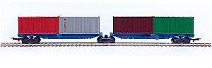 Frateschi - Vagão Porta Container (Estrada de Ferro Vitória-Minas) Companhia Vale do Rio Doce - HO
