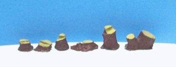 Minitec - Miniaturas de Tocos de Árvores para Maquete - 1/100