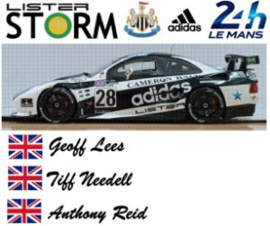 "Spark - Lister Storm ""Newcastle United Football Club"" 24 horas de Le Mans - 1/43"