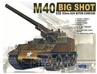 AFV Club - U.S. 155mm Gun Motor Carriage M40 Big Shot - 1/35
