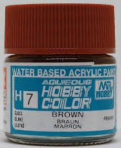 Gunze  - Aqueous Hobby Colors H007 - Brown (Gloss)