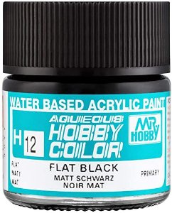 Gunze - Aqueous Hobby Colors H012 - Flat Black
