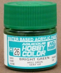 Gunze - Aqueous Hobby Colors H026 - Bright Green (Gloss)