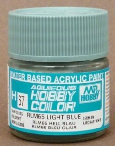 Gunze - Aqueous Hobby Colors 067 - RLM65 Light Blue (Semi-Gloss)