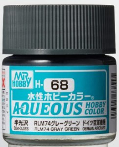Gunze - Aqueous Hobby Colors 068 - RLM74 Gray Green (Semi-Gloss)