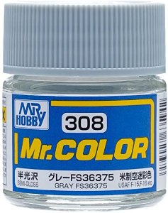 Gunze - Mr.Color 308 - FS36375 Gray (Semi-Gloss)