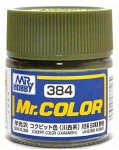 Gunze - Mr.Color 384 - Kawanishi Cockpit Color (Semi-Gloss)