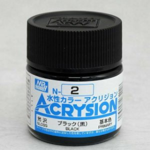 Gunze - Acrysion  N002 - Black (Gloss)