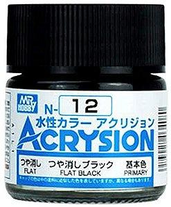 Gunze - Acrysion  N012 - Flat Black