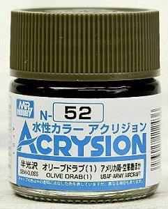 Gunze - Acrysion  N052 - Olive Drab (1) (Semi-Gloss)