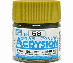 Gunze - Acrysion  N058 - Interior Green (Semi-Gloss)