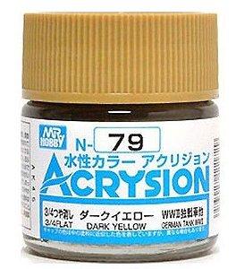 Gunze - Acrysion  N079 - Dark Yellow (3/4 Flat)